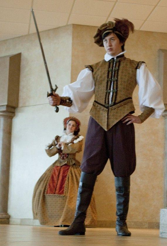 Renaissance Noblemen Jerkin Tudor Hunting outfit with hat ...