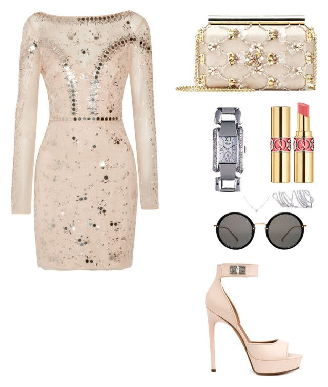 """Fashion"" by denise1989 on Polyvore featuring Temperley London, Givenchy, Yves Saint Laurent, Oscar de la Renta, Chopard, Linda Farrow and Ice"