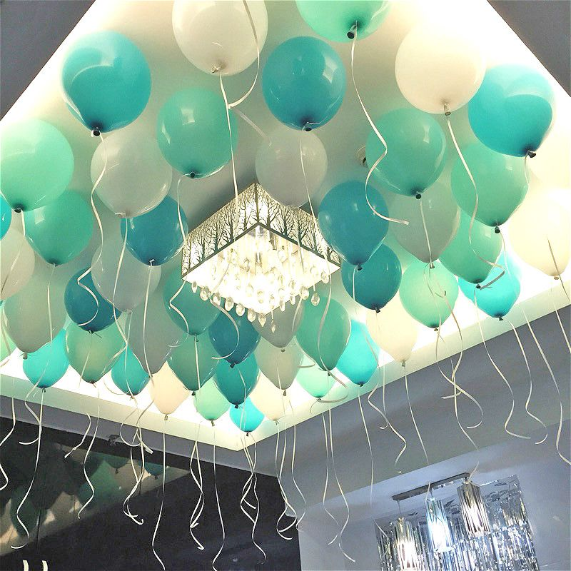 Tiffany Blue Balloons 20pc 10 Inch Thick 22 G Wedding Decoration