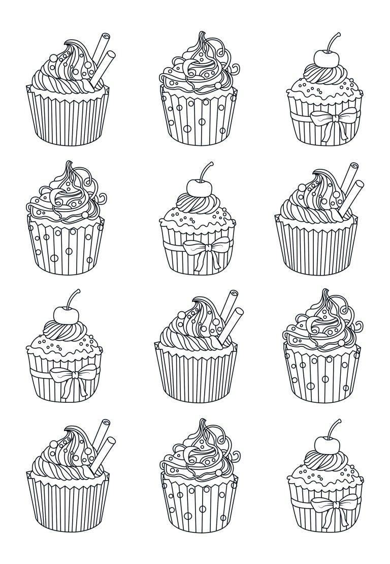 Cupcake Coloring Pages Cupcake Coloring Pages Free Wuming Entitlementtrap Com Cupcake Coloring Pages Food Coloring Pages Coloring Pages For Kids