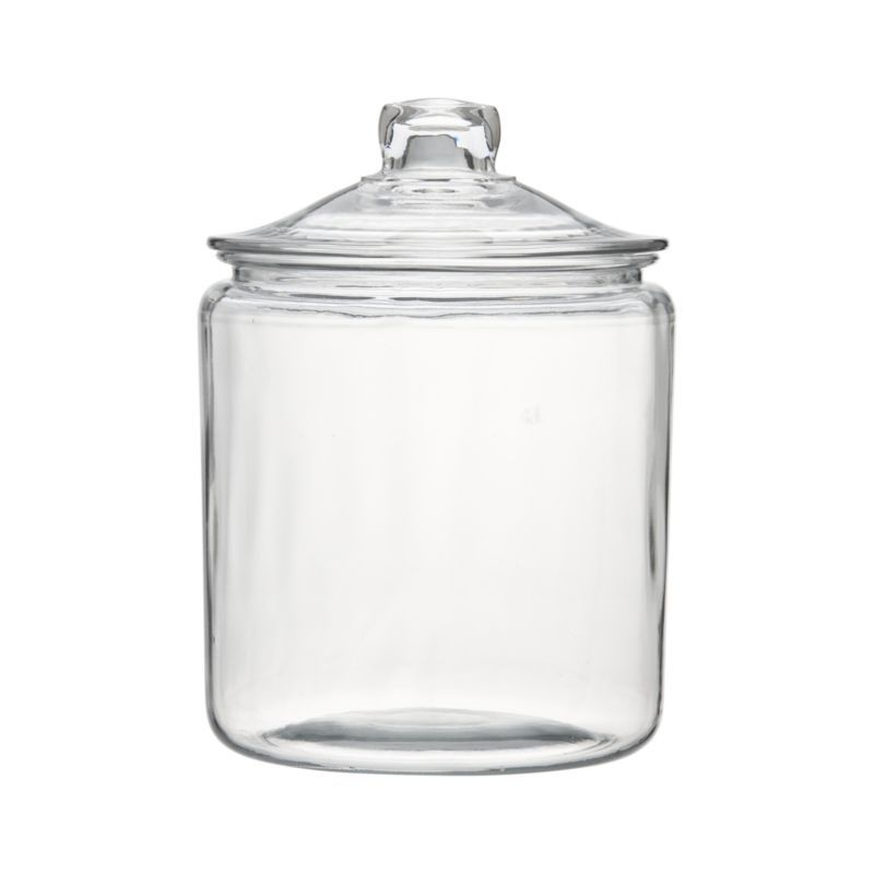 Heritage Hill 128 Ozglass Jar With Lid  Crates Barrels And Brilliant Glass Kitchen Containers Design Decoration