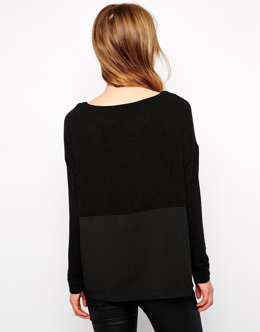 Esprit | Esprit Woven And Knit Top at ASOS