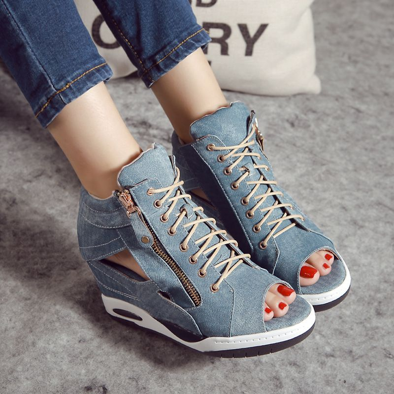 High Heels Gladiator Sandals Open Toe Shoes Sexy Lady Pumps Woman Wedges  Shoes female Platform Lady