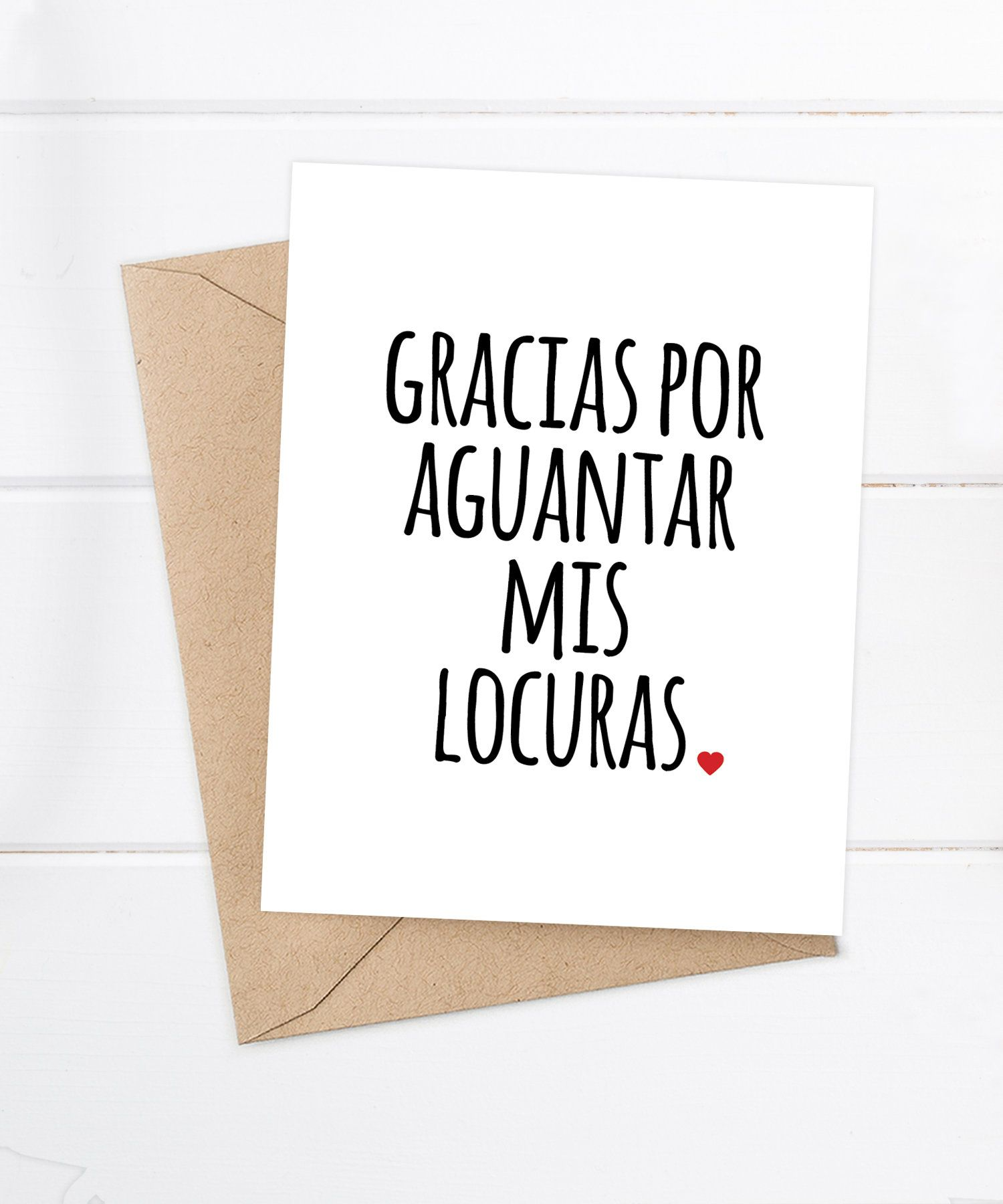 Funny Spanish Cards Spanish Cards Tarjetas En Espanol By Flairandpaper On Etsy Marriage Quotes Funny Boyfriend Quotes Love Quotes