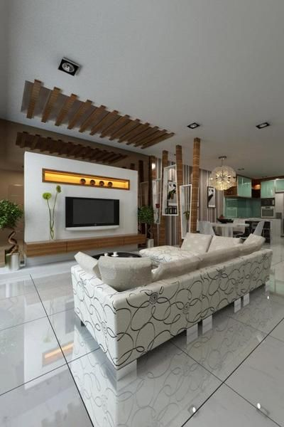 Latest Lcd Panel Design Gallery With Images: LED TV Panels Designs For Living Room And Bedrooms