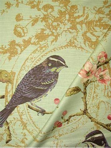 Yellow Bird Branch Fabric Panel Make A Cushion Upholstery Craft