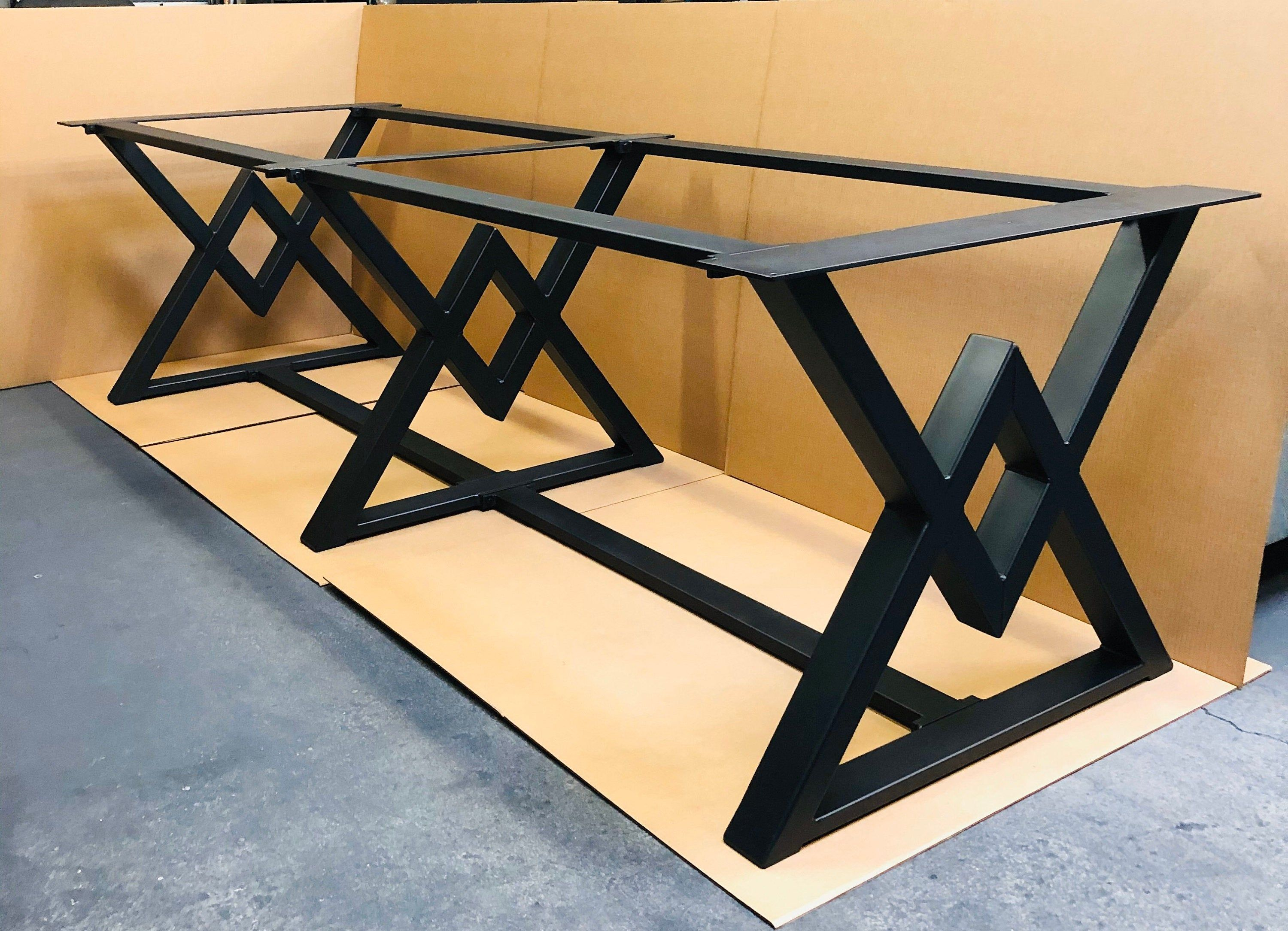 The Diamond Conference Table Base 3 Legs With 6 Braces Etsy In 2020 Conference Table Dining Table Bases Metal Table Base