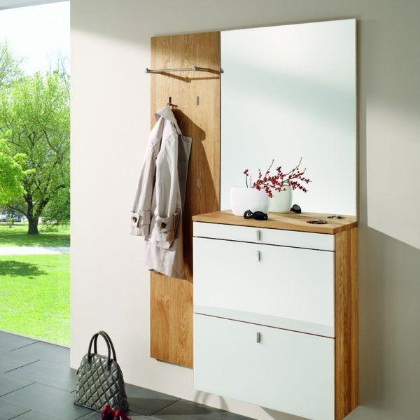 garderobe eiche massiv ge lt bei m bel morschett dielen pinterest hall closet. Black Bedroom Furniture Sets. Home Design Ideas