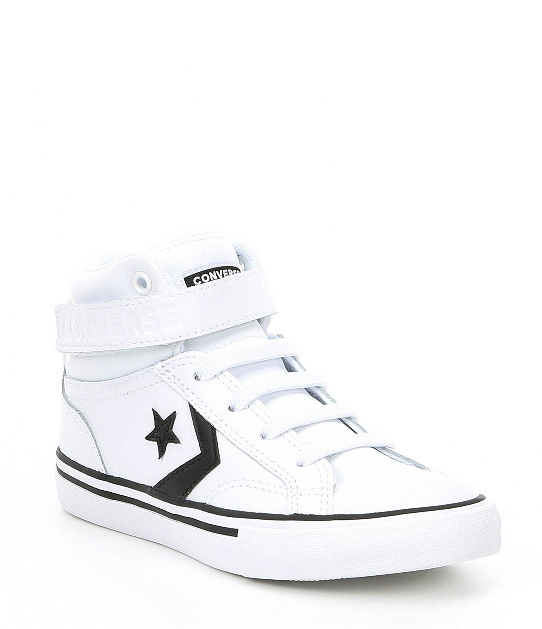 Converse Boys' Chuck Taylor All Star Pro Blaze Hi Top Sneaker - White/Black/White 5M Youth #whiteallstars