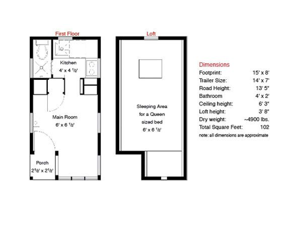 Tumbleweed Tiny House Floor Plans: Tiny House Plans, Tiny House