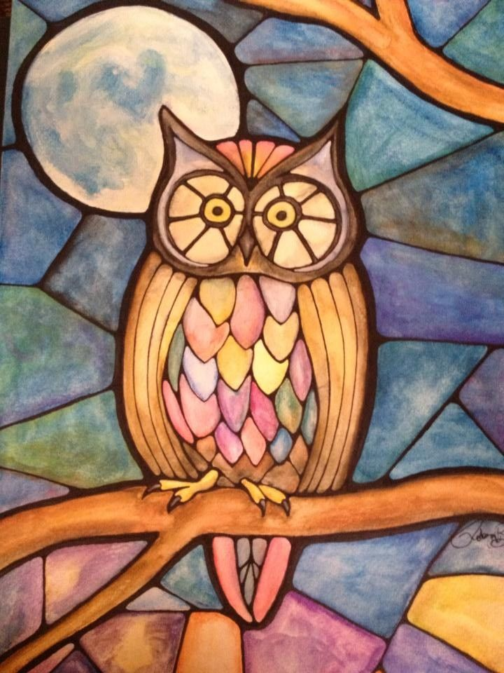 Watercolor painting of an Owl