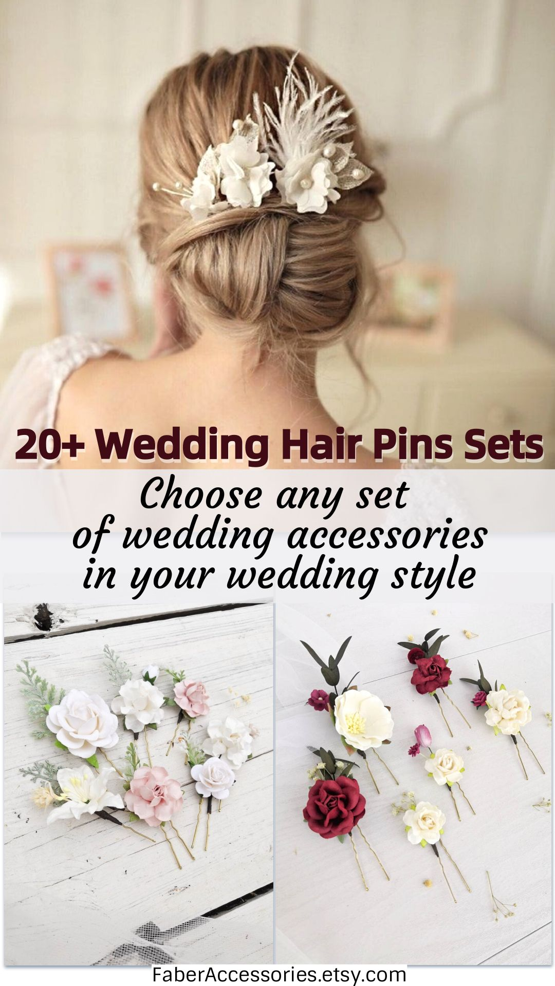 20 Wedding Hair Pins Set Choose Any Set Of Wedding Accessories In Your Wedding Style In 2020 Wedding Hair Pins Wedding Hairstyles Wedding Accessories