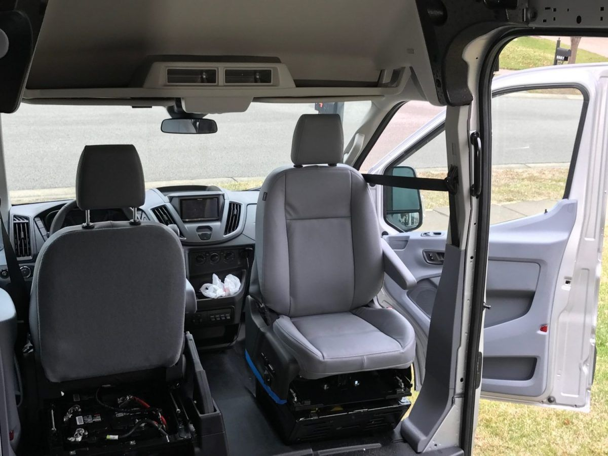 Van Conversion Install Seat Swivel In Ford Transit Ford Transit Van Van Conversion