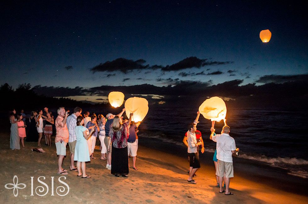 Wedding Lantern Release - After Party - Villa Montana Beach Resort - Puerto Rico
