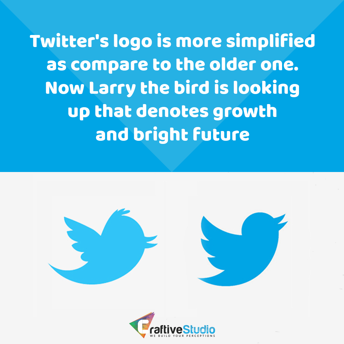 Twitter logo facts symbol grid icon geometry vector