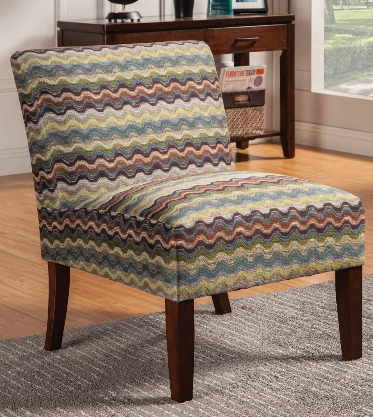 Coaster Everyday Transitional Multi Color Accent Chair: Coaster 902029 Accent Chair - Multicolor