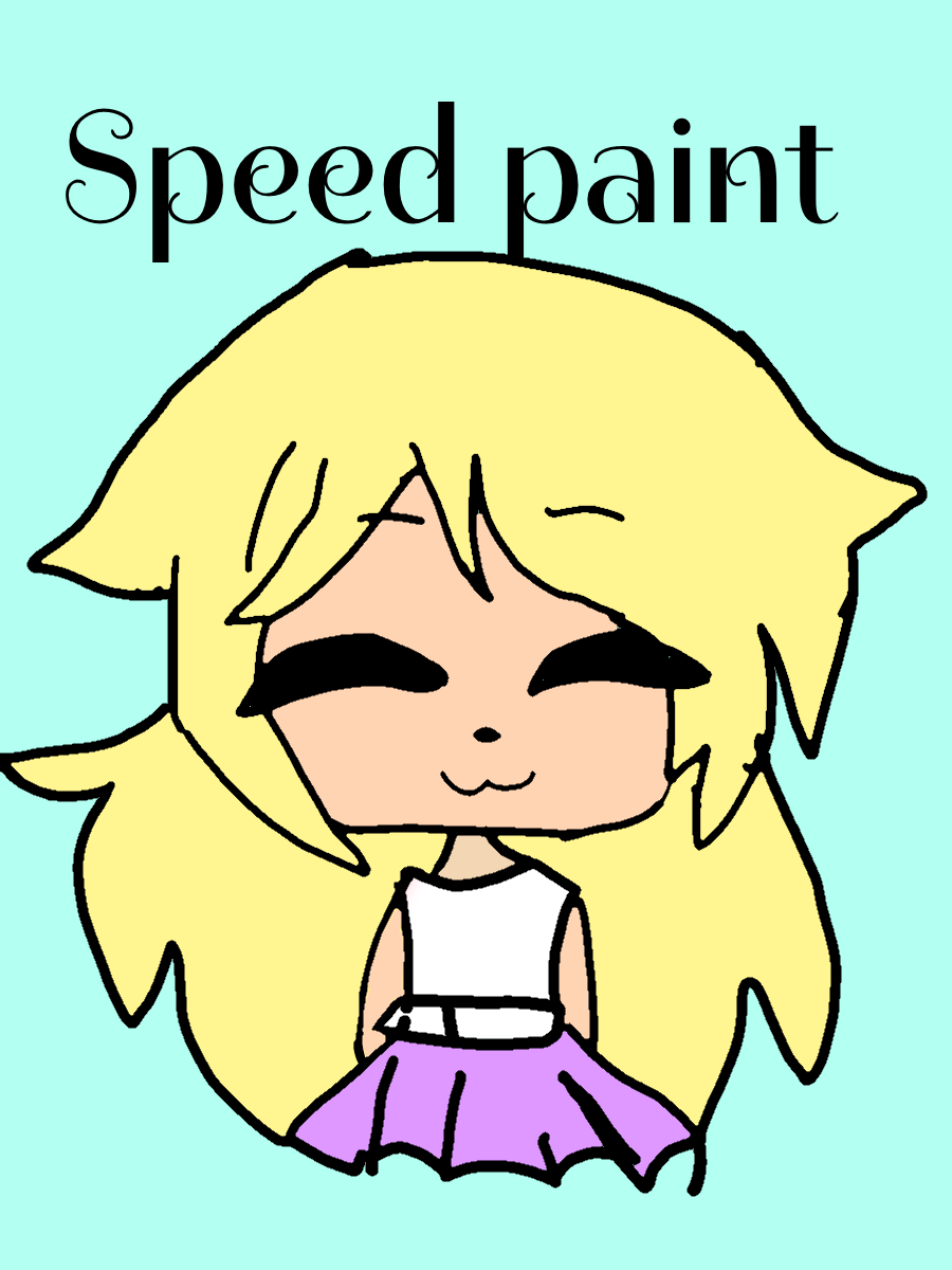 Speed Paint De Mi Avatar De Gacha Life Uwu Speed Paint Fictional Characters Painting
