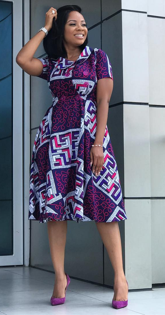 African print long dress #africanprintdresses