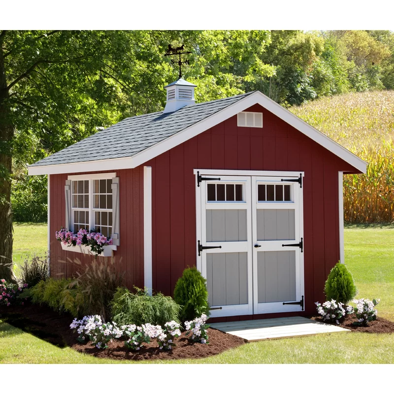 Homestead 10 Ft W X 12 Ft D Wood Storage Shed In 2020 Backyard Storage Sheds Wood Storage Sheds Shed Design