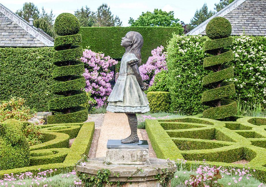 Alice bronze sculpture by the robert james workshop - Alice in wonderland garden statues ...