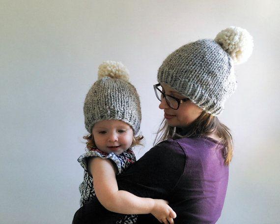 Knitting Pattern    Chunky Pom Pom Hat    by KniftyKnittings  5f43bc85493