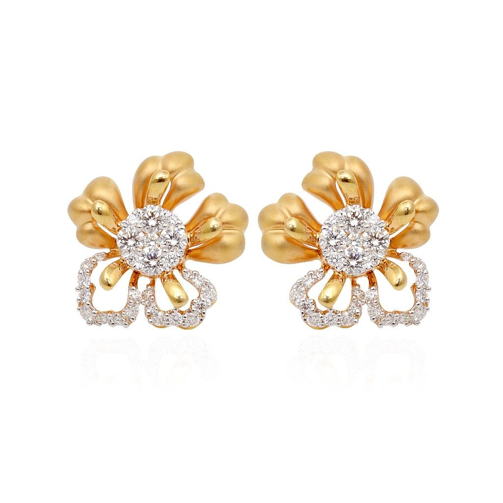 Gold diamond earrings | Earrings | Pinterest | Gold diamond ...