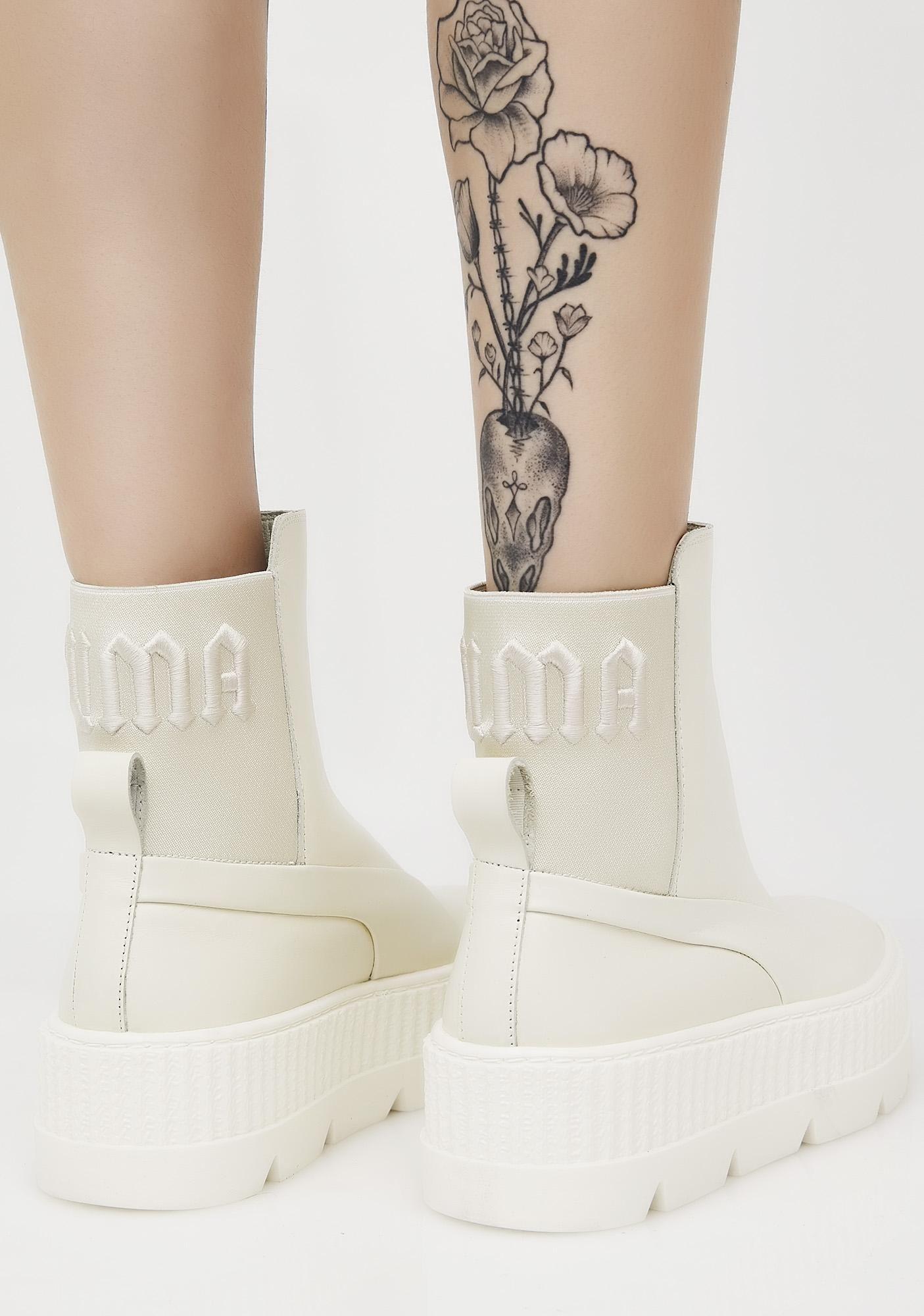 PUMA Vanilla FENTY PUMA By Rihanna Chelsea Sneaker Boots  204a690ce