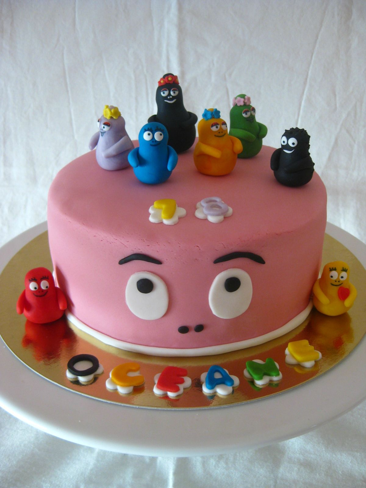 deco gateau barbapapa