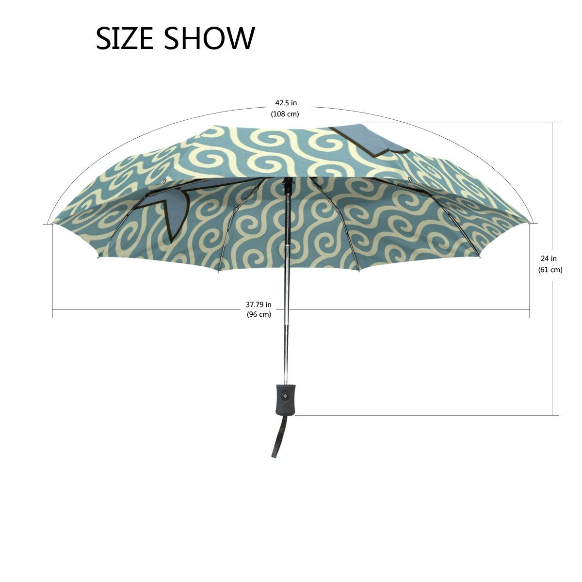 Cooper girl Shark Fish Windproof Travel Umbrella Auto Open Close Foldable Compact Portable Lightweight UV Umbrellas for Women Men Kid -- Continue to the product at the image link. (This is an affiliate link)