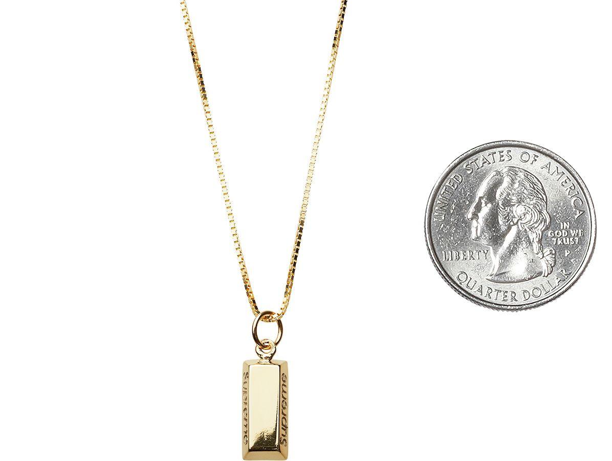 Gold bar pendant 14k gold pendant with 24 14k gold chain embossed gold bar pendant 14k gold pendant with 24 14k gold chain embossed logo on aloadofball Choice Image