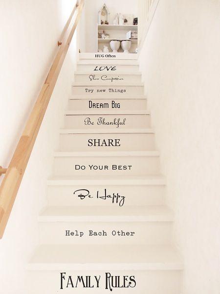 mit diesen treppentatoos wird die treppe zum hingucker flur pinterest wandtattoo shabby. Black Bedroom Furniture Sets. Home Design Ideas