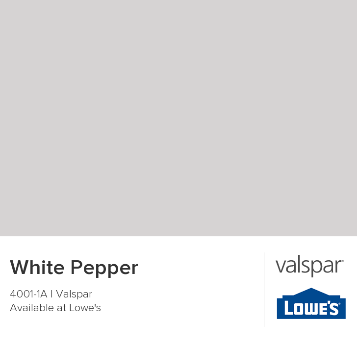 White Pepper From Valspar Really Nice Grey With A Purple Undertone Goes Well Blue Greens And Soft Yellow