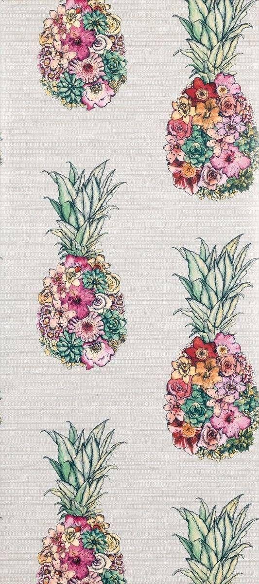 Matthew Williamson Ananas Wallpaper W726601 Pineapple