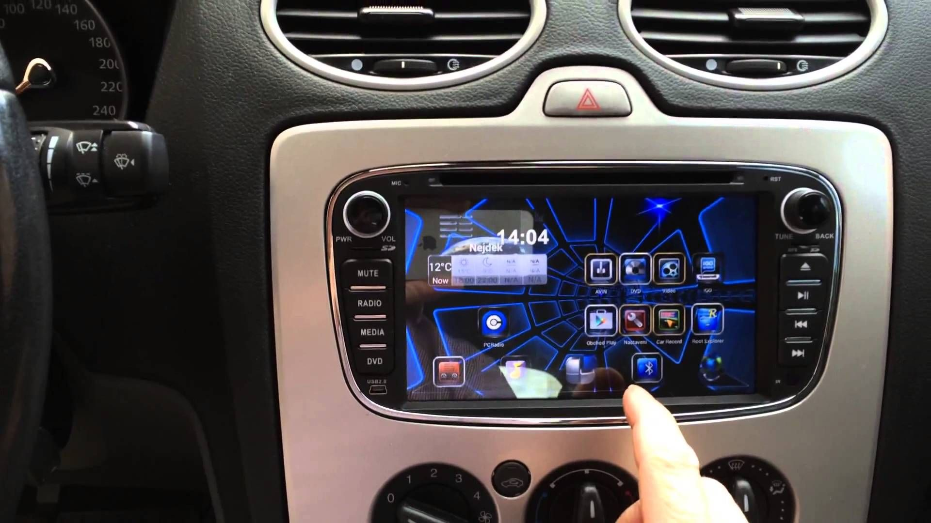 Rooted Joying android head unit car stereo ford focus mondeo