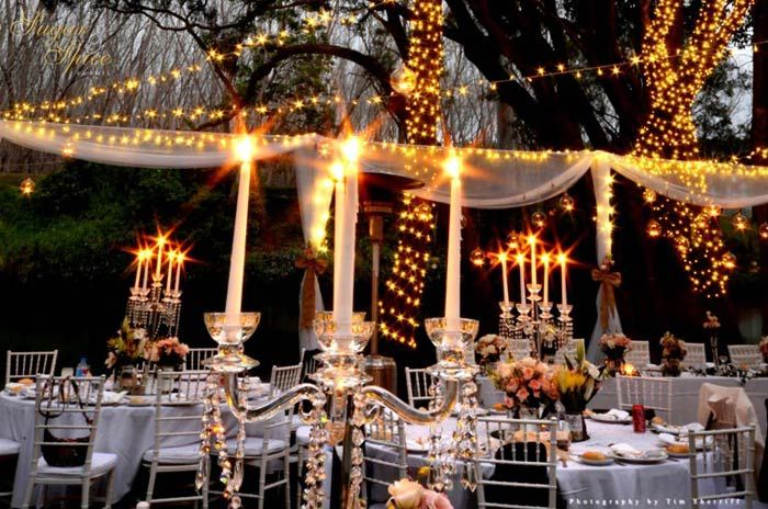 A Fairy Light Wonderland Garden Wedding