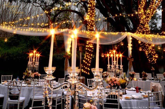 Fairy Lights Outdoor Garden Part - 38: A U0027Fairy Light Wonderlandu0027 Garden Wedding