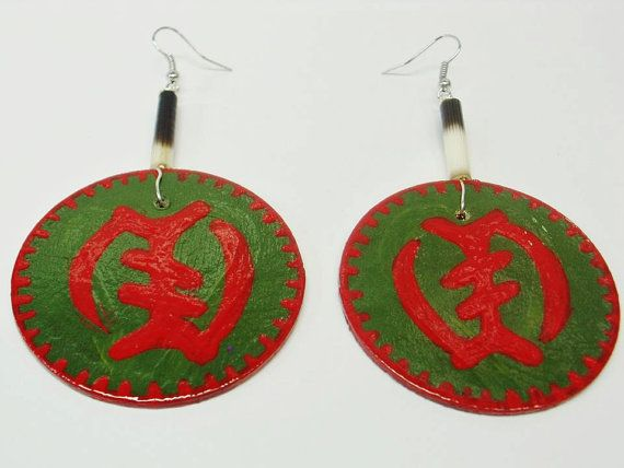 Check out this item in my Etsy shop https://www.etsy.com/listing/212299427/gye-nyame-earrings