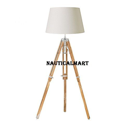 Designer Tripod Floor Lamp Stand Natural Finish With Whit Https Www Dp B01lye4ihu Ref Cm Sw Tripod Floor Lamps Tripod Lamp Floor Standing Lamps