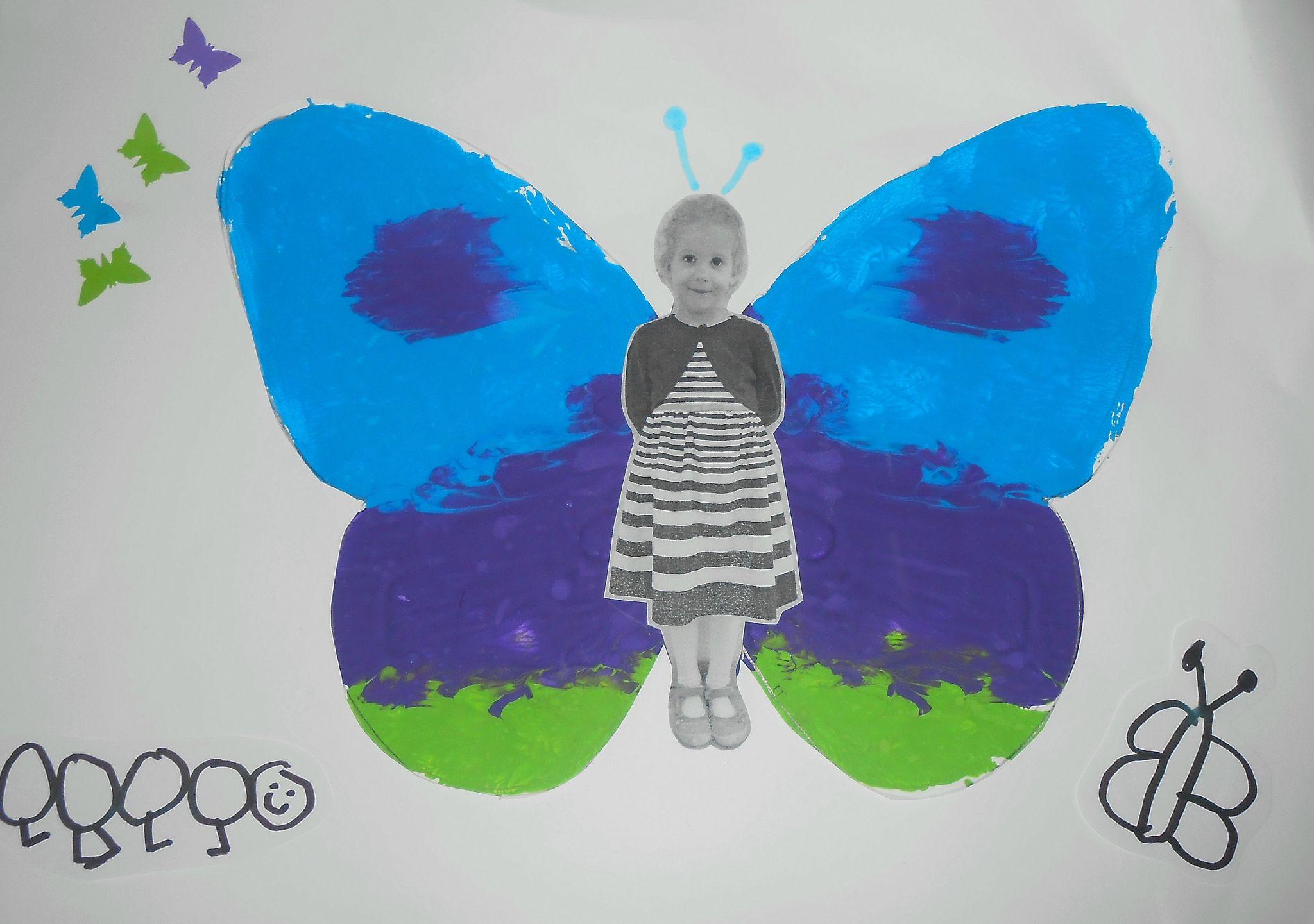 papillon activit manuelle maternelle peinture photo sym trie facile simple enfant enfants 1. Black Bedroom Furniture Sets. Home Design Ideas