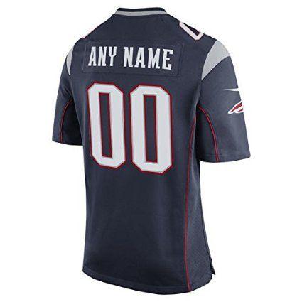 21314e8e7 Amazon.com : Men's New England Patriots Navy Custom Game Jersey Size S M L  XL 2XL 3XL 4XL : Sports & Outdoors