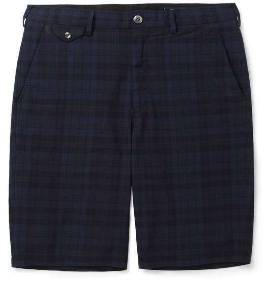 Beams Plus | Slim-Fit Plaid Cotton Shorts #menswear #medsstyle #mensfashion #beamsplus #mrporter