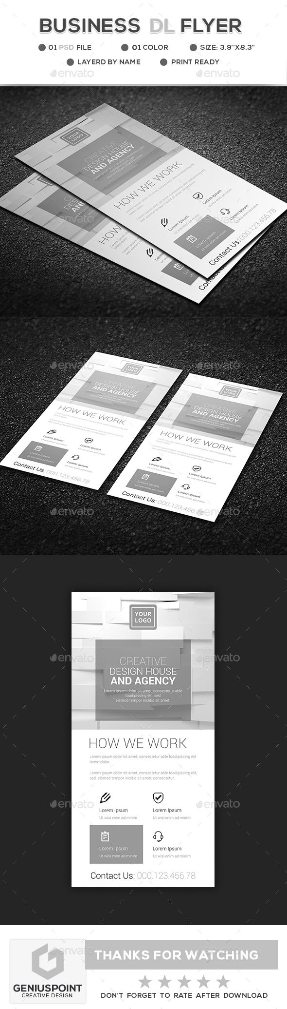 Business DL Flyer | Flyer template, Template and Business