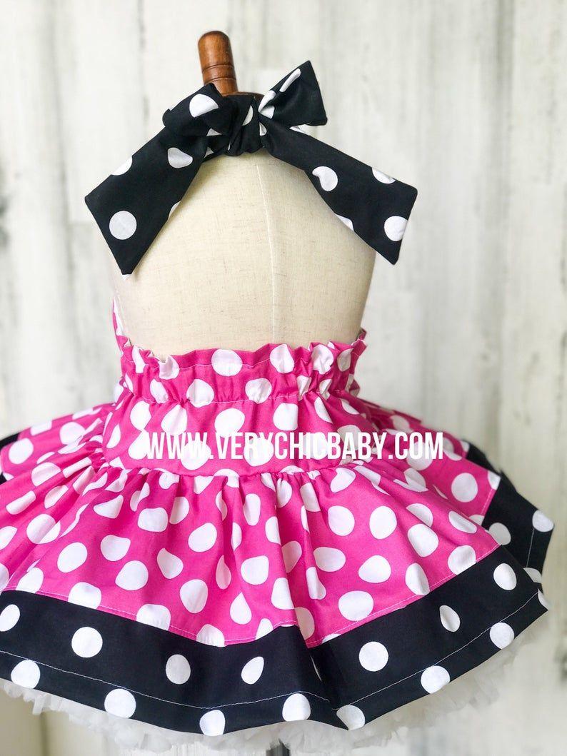 Minnie Mouse Dress Etsy Minnie Dress Minnie Mouse Dress Pink Minnie Mouse Dress