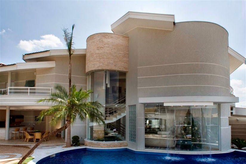 Decor Salteado Blog de Decoraç u00e3o e Arquitetura 30 Fachadas de casas modernas e cinza u2013 a cor  -> Decoracao De Casas Modernas