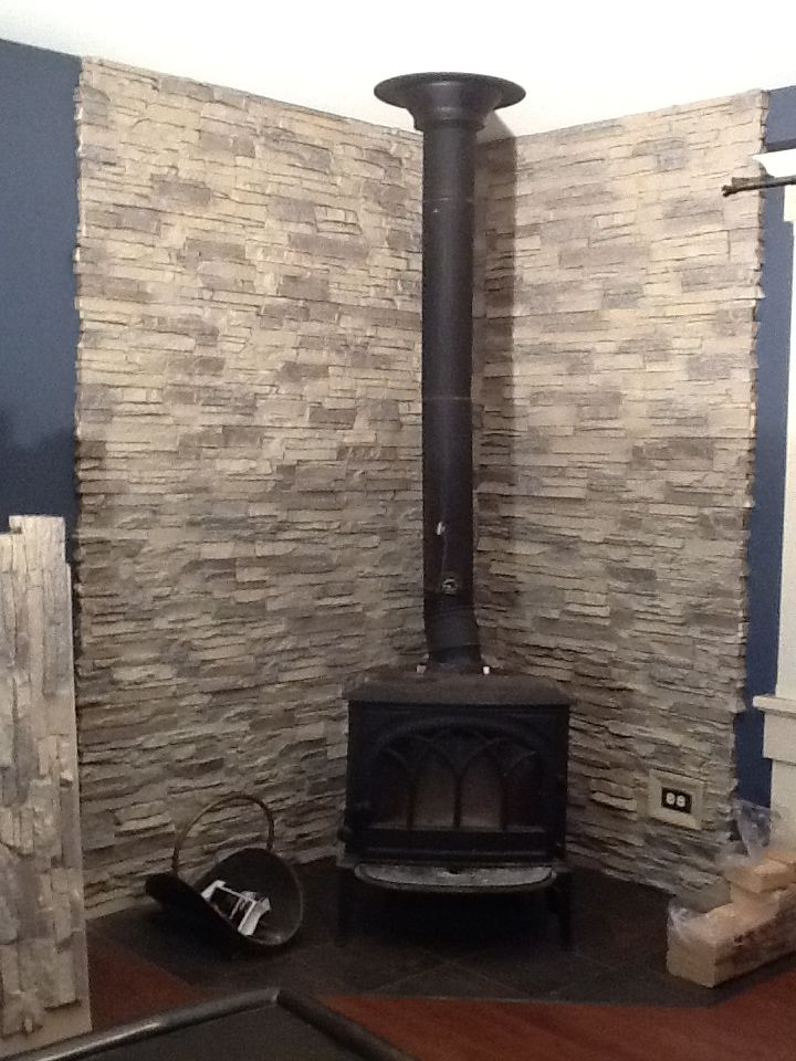 Timeless Wood Stove Backing For A Modern Home Home
