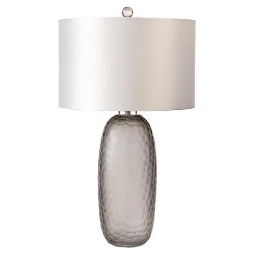 Regina Andrew Honeycomb Classic Grey Smoked Glass Honeycomb Table Lamp In 2020 Glass Table Lamp Glass Lamp Lamp