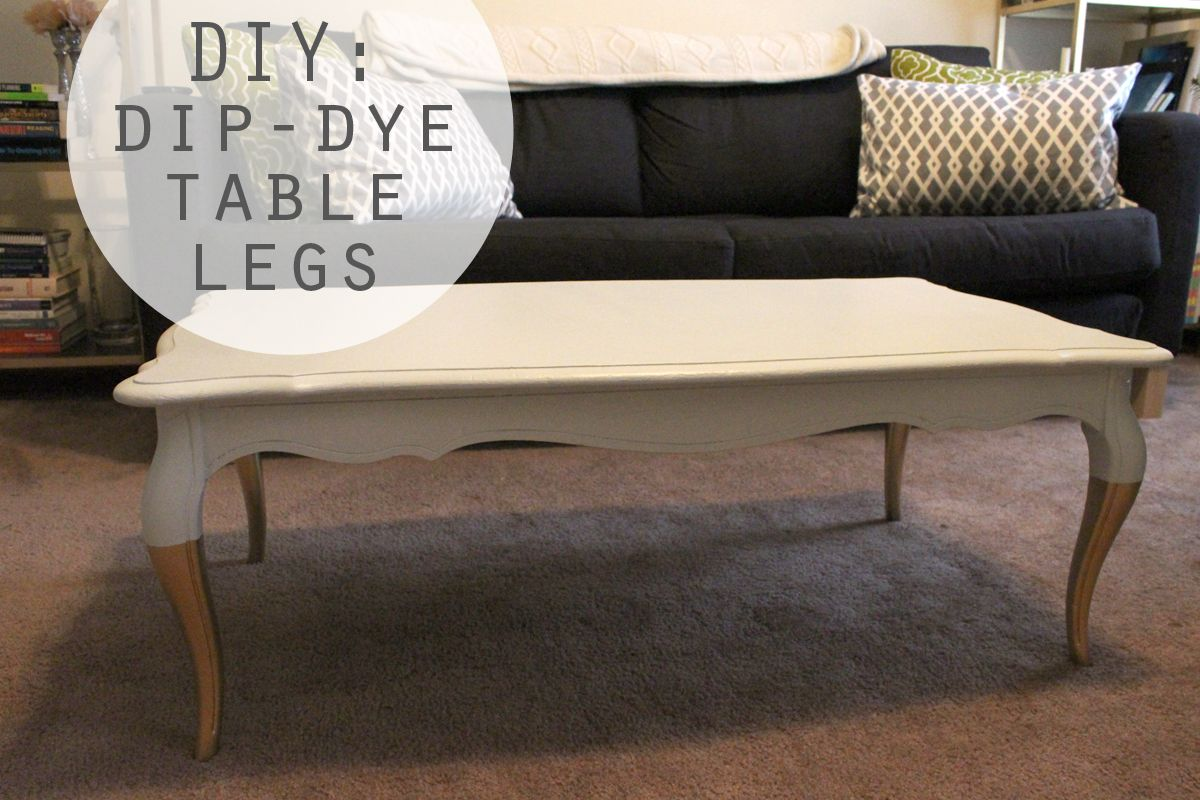 Gold Dip Dye Table Legs Painted Coffee Tables Coffee Table Gold