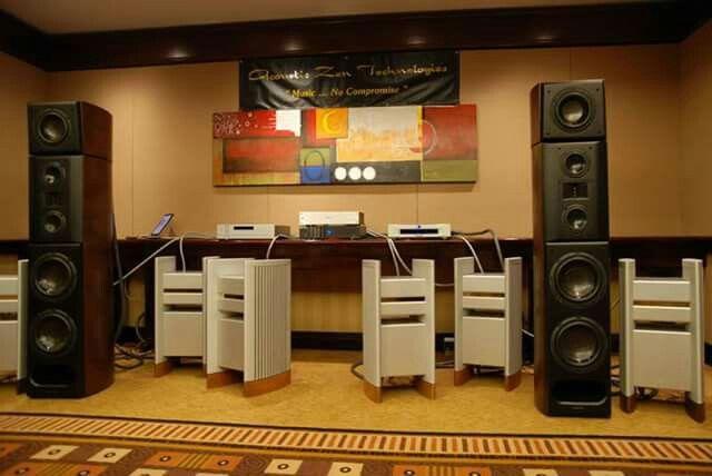 Acoustic Zen towers  fed by DEQX  processor  & Halcro dm88 amps