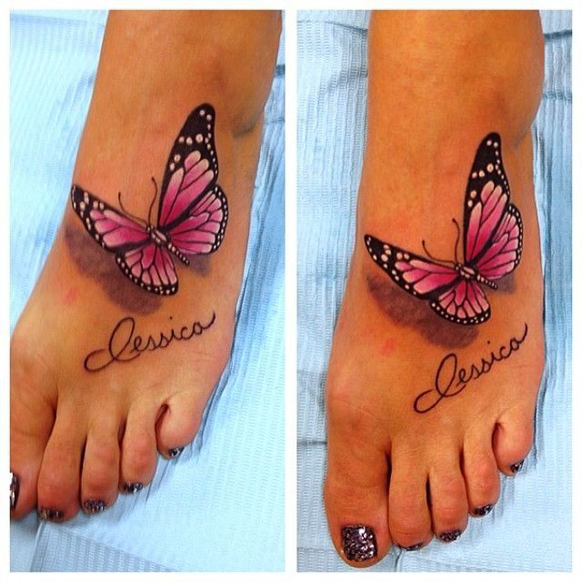 Pin By Andrea Hope Dales On Tattoo For Baby Girl Butterfly Foot Tattoo Foot Tattoo Baby Feet Tattoos