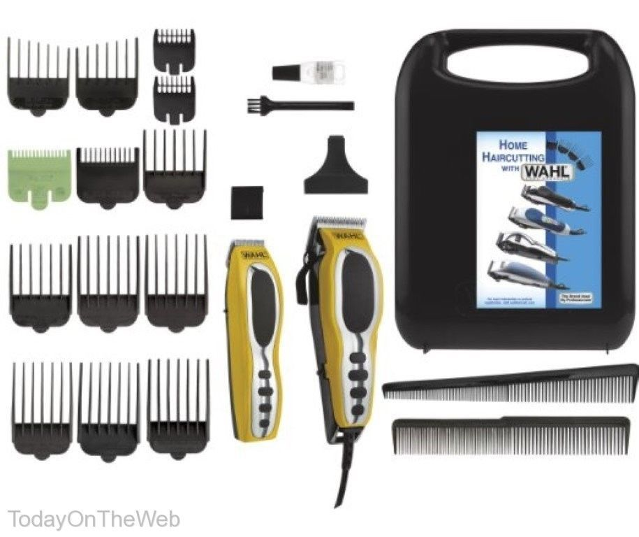 Wahl 79520 3101 Head Total Body Grooming 22 Piece Groom Pro Haircutting Kit Wahl Wahl Hair Clippers Grooming Kit
